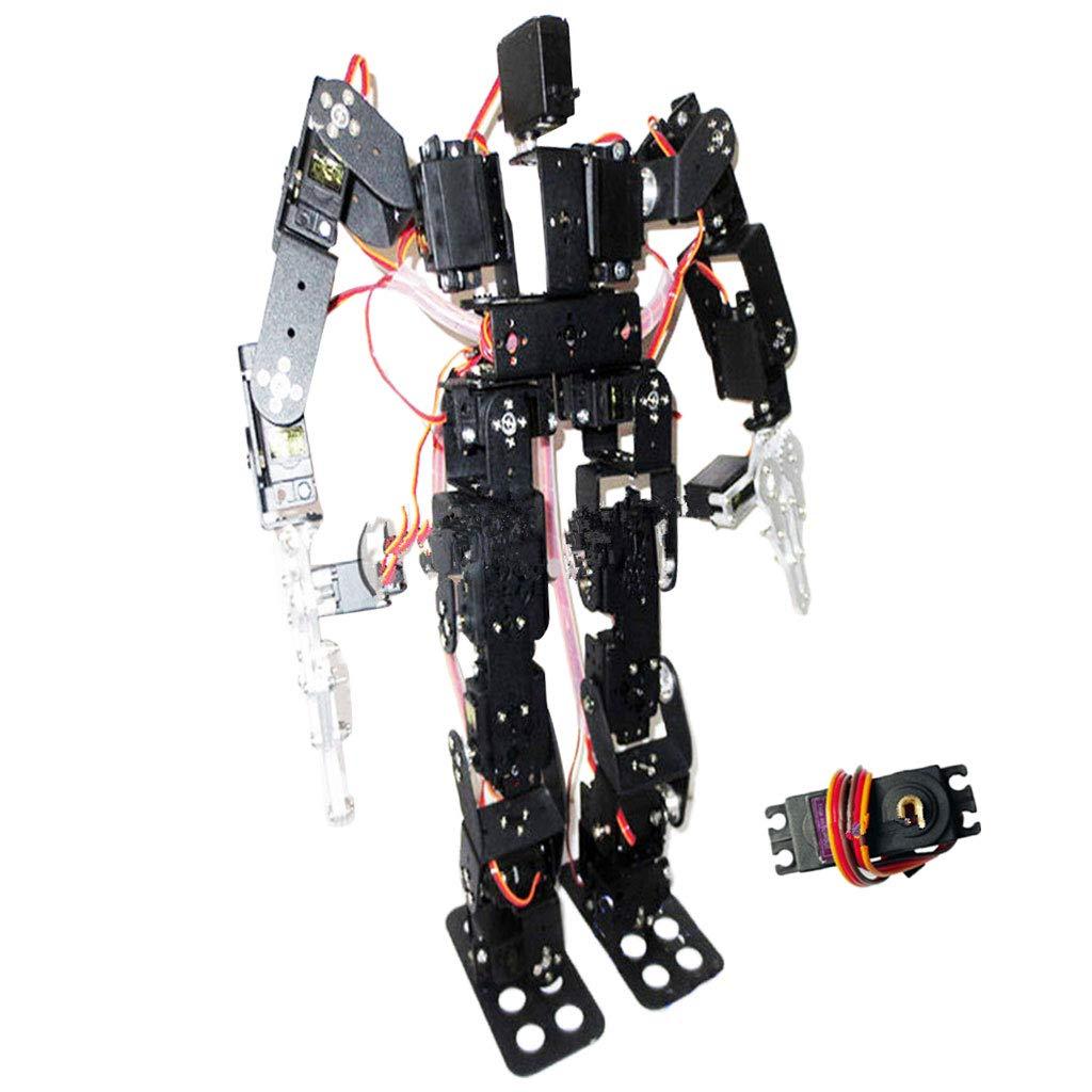 FLAMEER 19 Freiheitsgrade Klassischer Tanzroboter Zweibeiniger Laufroboter Kinder Spielzeug, Schwarz