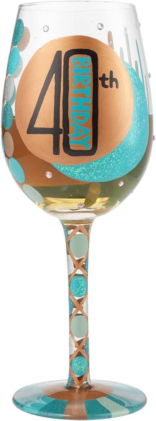 Amazon.com: Enesco Lolita – Copa de vino 40º cumpleaños ...