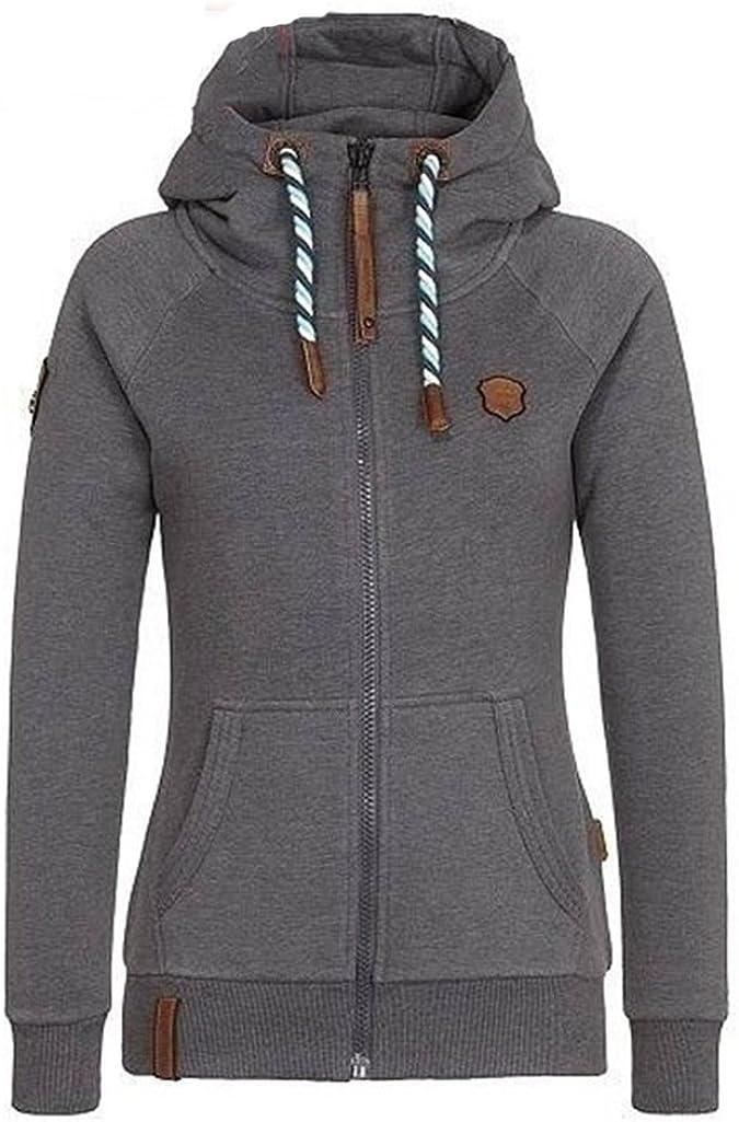 VINCINEY Womens Fleece Zip Up Hoodies Long Sleeve Hooded Sweatshirts Jacket