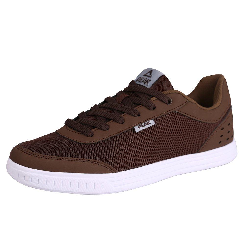 Peak Low Skateboard Sneaker For Men 8 D(M) US|Coffee