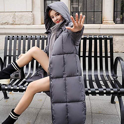 Mujer Con Parka De Outwear Abrigo Grueso Cálido L Capucha Zhrui Delgado color Forrado Invierno Casual Chaqueta Las Gris Señoras Prendas Algodón Escudo Tamaño wv4nA6xp