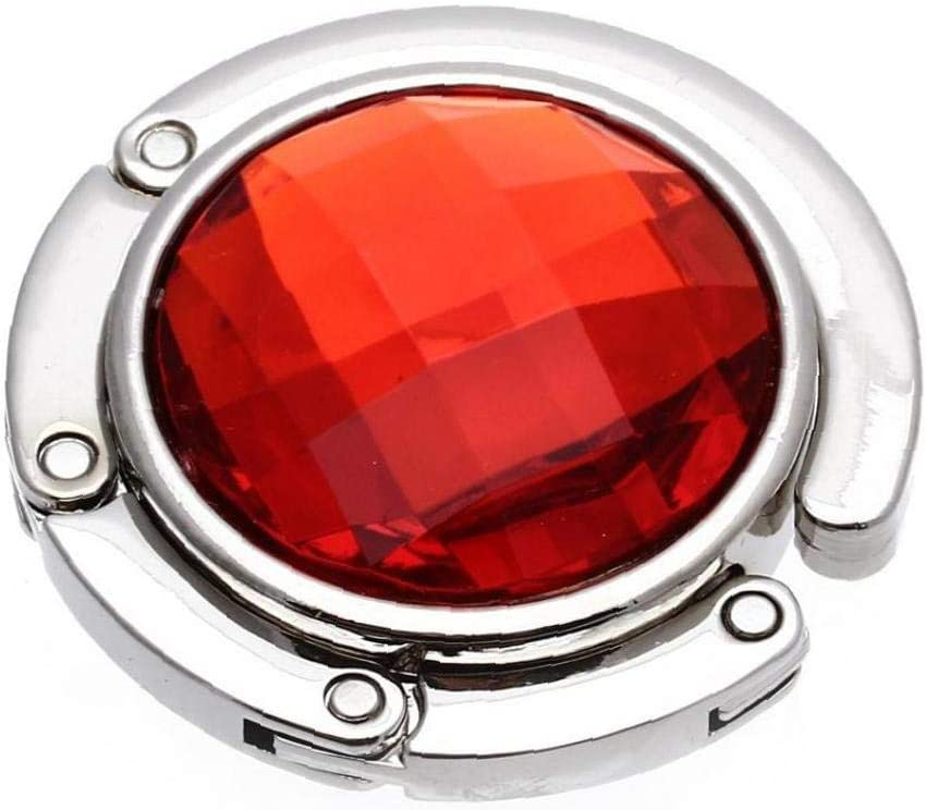 Gancho del Monedero del Bolso De Colgar Plegable Mesa Plegable De Colgar Titular 1pc para Mujer Bolsa De Almacenamiento Rojo