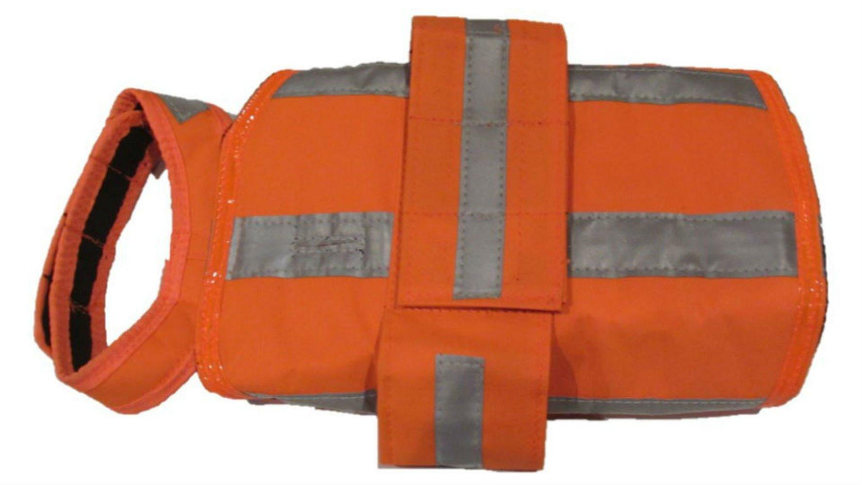 DOGonGEAR 55 lb to 90 lb Dog Hunting Jacket with Reflection, Large, Safety Orange