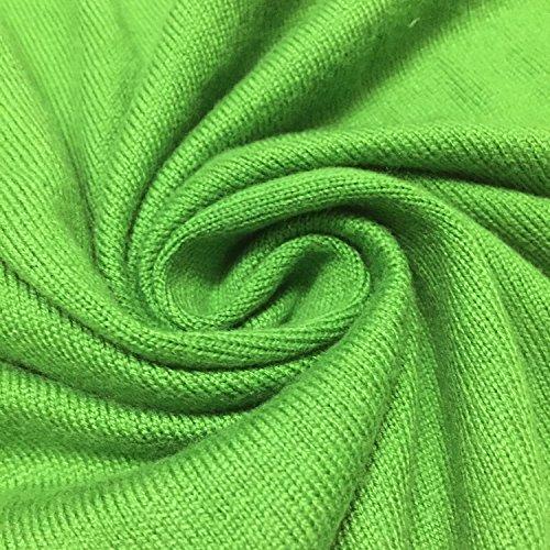 HIDOUYAL - Cárdigan - Básico - con botones - Manga Larga - para mujer Verde