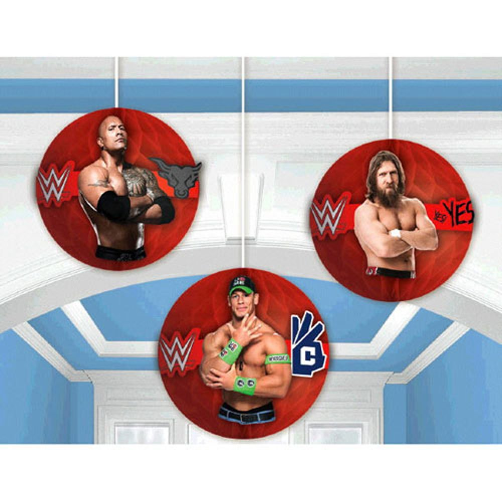 WWE Wrestling Bash Hanging Decorations (3pc)