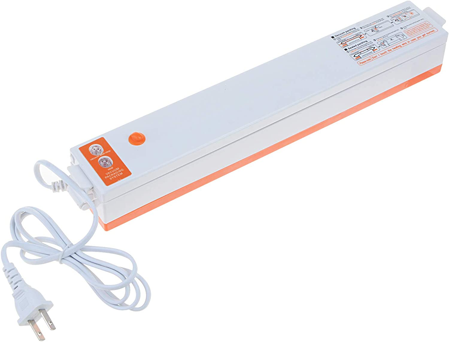 YXQ Vacuum Sealer Machine Automatic Food Sealer for Food Savers,Max Seal 11 inches(W),Dry Moist Food Modes,Includes 10 PCS Bags For Food Storage
