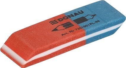 rot//blau 41 x 14 x 8 mm 10 x Pelikan Radierer BR40