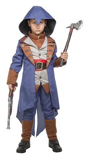 My Other Me Me-203951 Disfraz de asesino para niño Color azul 7-9 años  Viving Costumes 203951  Amazon.es  Juguetes y juegos 649ae39795b9