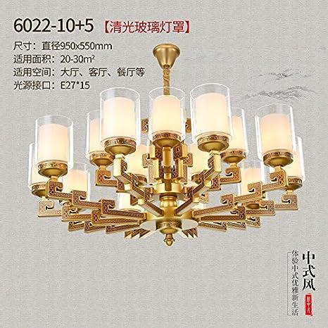 Nuevo estilo chino salón lámpara zinc atmósfera retro Villa ...