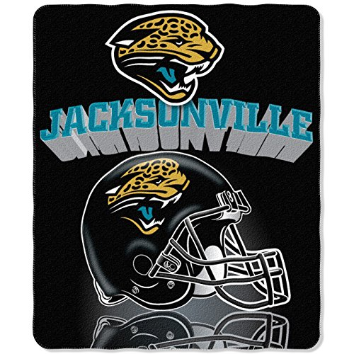 The Northwest Company NFL Jacksonville Jaguars Gridiron Fleece Throw, 50-inches x 60-inches
