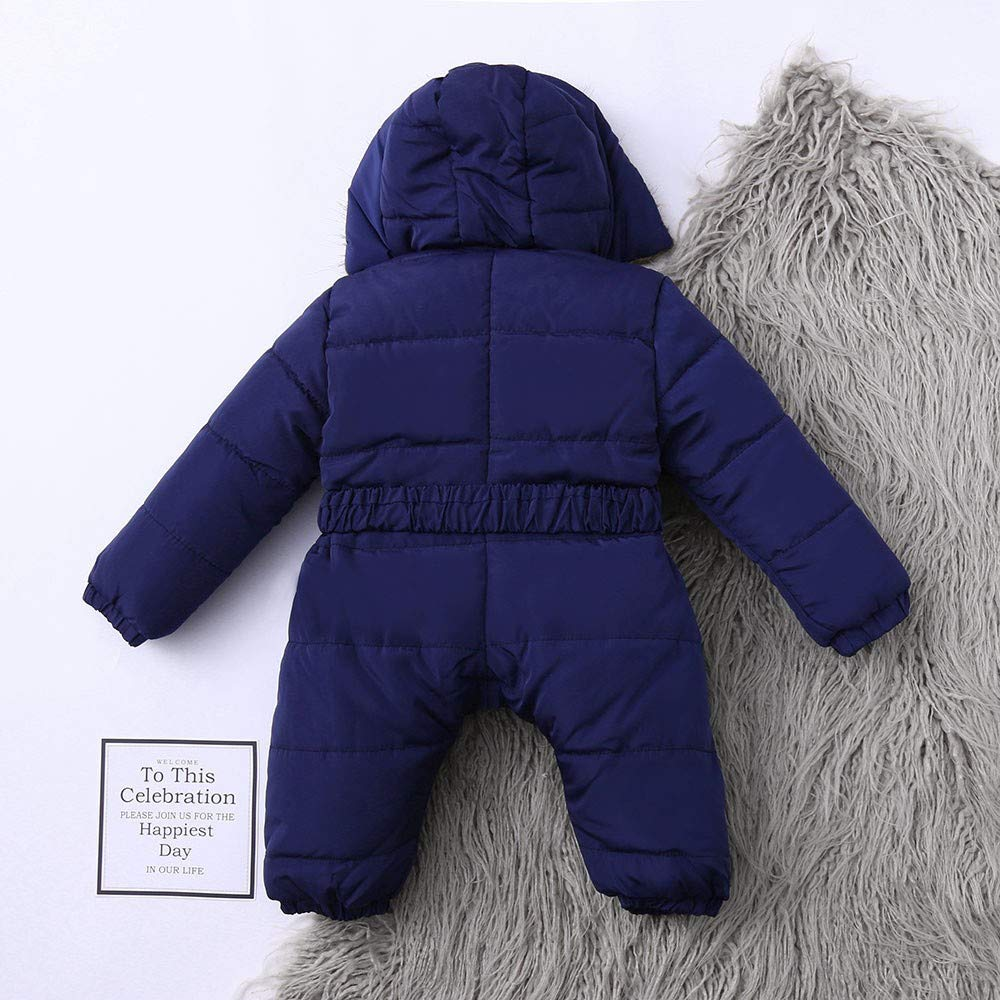 Fiaya Winter Baby Boy Girl Onesie Snowsuit Puffer Down Jacket Hooded Romper Jumpsuit Warm Thick Coat Outfit