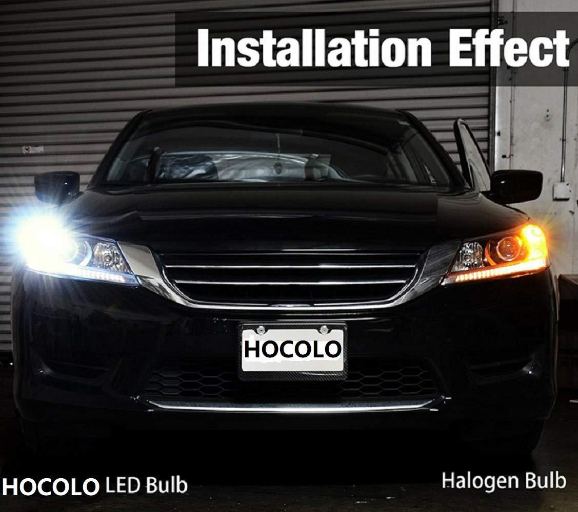 HOCOLO Extremely Bright Led Bulb 2200 Lumens Error Free 360-Degree Shine 921 912 T10 T15 906 904 902 3035 Chips for Backup Reverse Lights No Hyper Flash Xenon White