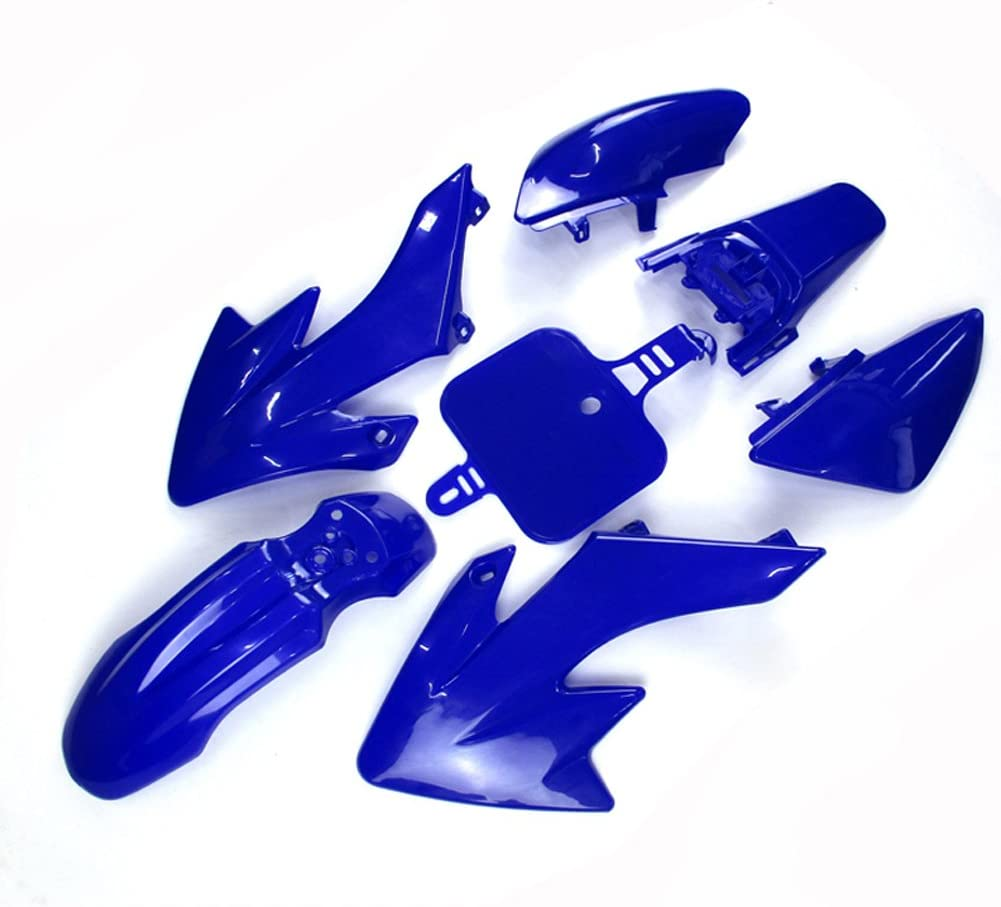 Race-Guy Blue Strength Plastic Fairing Body Cover Kits For Honda XR50 CRF50 Piranha SSR Thumpstar Stomp Coolster Pitsterpro Braaap SDG GPX DHZ CRF50 XR50 50cc 70cc 90cc 110cc 125cc 140cc 150cc 160cc Dirt Pit Bike