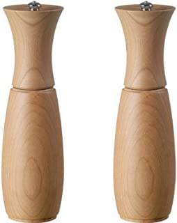 product image for Fletchers' Mill Border Grill Salt & Pepper Mill, Cherry - 8 Inch, Adjustable Coarseness Fine to Coarse, MADE IN U.S.A.