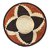 African Basket Four Star Autumn Bloom Raffia Fruit or Display Home Decor The Crabby Nook