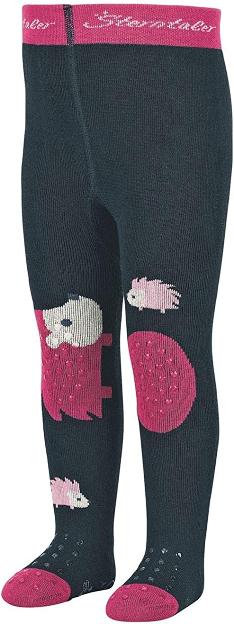 Slipper Sole Size: 86 Sterntaler Tights for Babies and Toddlers Age: 1-2 years Anthracite