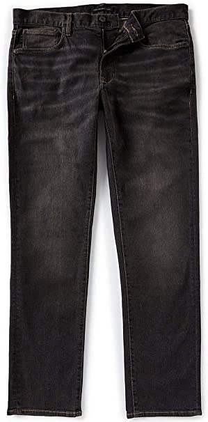 John Varvatos Mens Authentic Classic Straight Jeans Denim Charcoal