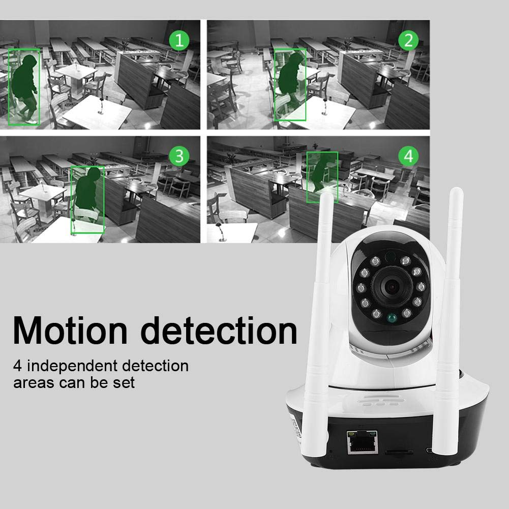 1# WiFi IP Camera PTZ Seguridad C/ámara,Interior//Exterior Inal/ámbrica HD 720P Vigilabeb/és para Detecci/ón Movimiento,Audio de 2 Vias,Visi/ón Nocturna Rotaci/ón Libre 355 /° Arriba y Abajo Baby Monitor