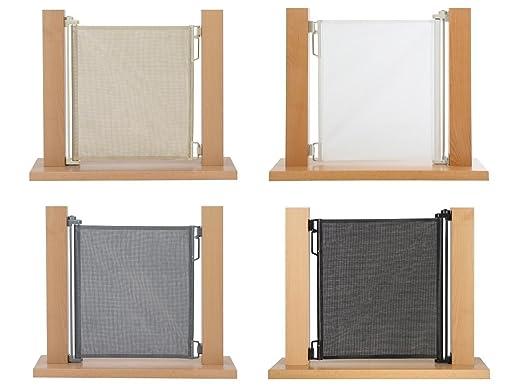Impag Rollo Tür und Treppenschutzgitter Höhe 107 cm einrollbar 50-135 cm Grau