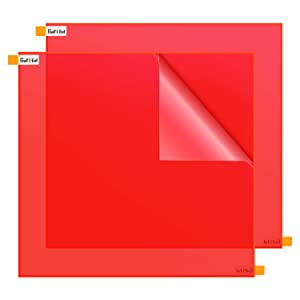 Acrylic Sheet for Crafts - 12x12x1/8 inches, Gartful Multipurpose Plexiglass Sheet Plastic Panel for Crafting Projects, Table Signs, Cricut Cutting, Home Decor, Fluorescence Red, Pack of 2