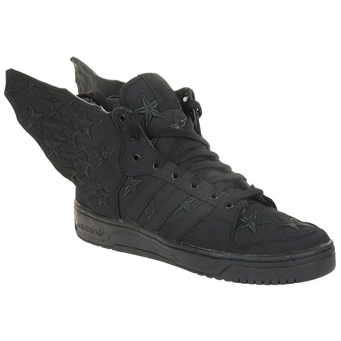 timeless design 94205 3f6ce adidas Originals JS Wings 2.0 Black Flag Jeremy Scott D65206 Trainer Shoes Black  Black Size 8 Amazon.co.uk Shoes  Bags