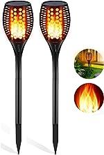 Aityvert Solar Lights Outdoor, Waterproof Flickering Flame Solar Torch Lights Dancing