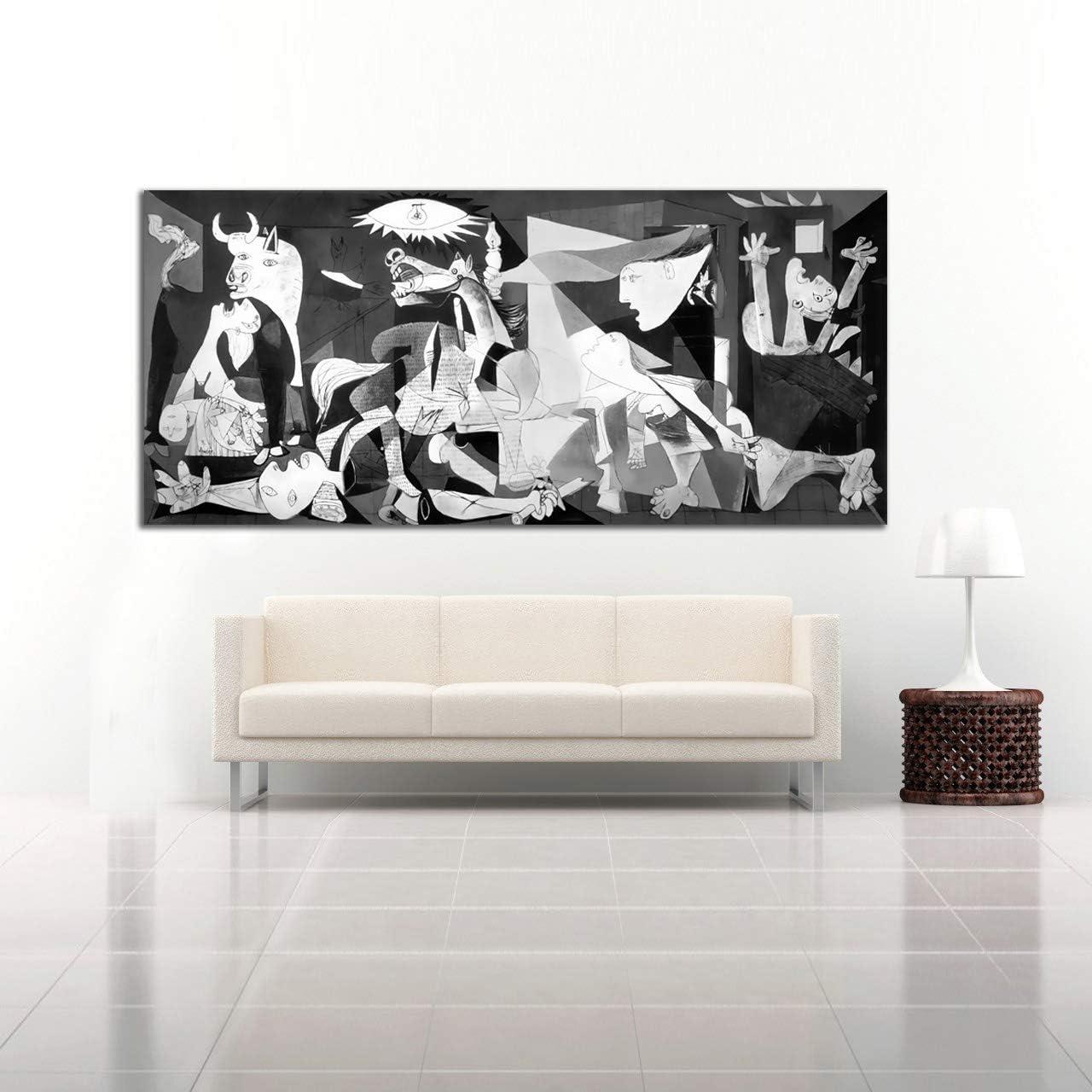 Desconocido Cuadro Lienzo El Guernica Pablo Picasso – Varias Medidas - Lienzo de Tela Bastidor de Madera de 3 cm - Impresion Alta resolucion (120, 54)