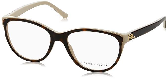 Ralph Lauren 0Rl6161, Monturas de Gafas para Mujer, Top Havana/Cream, 52