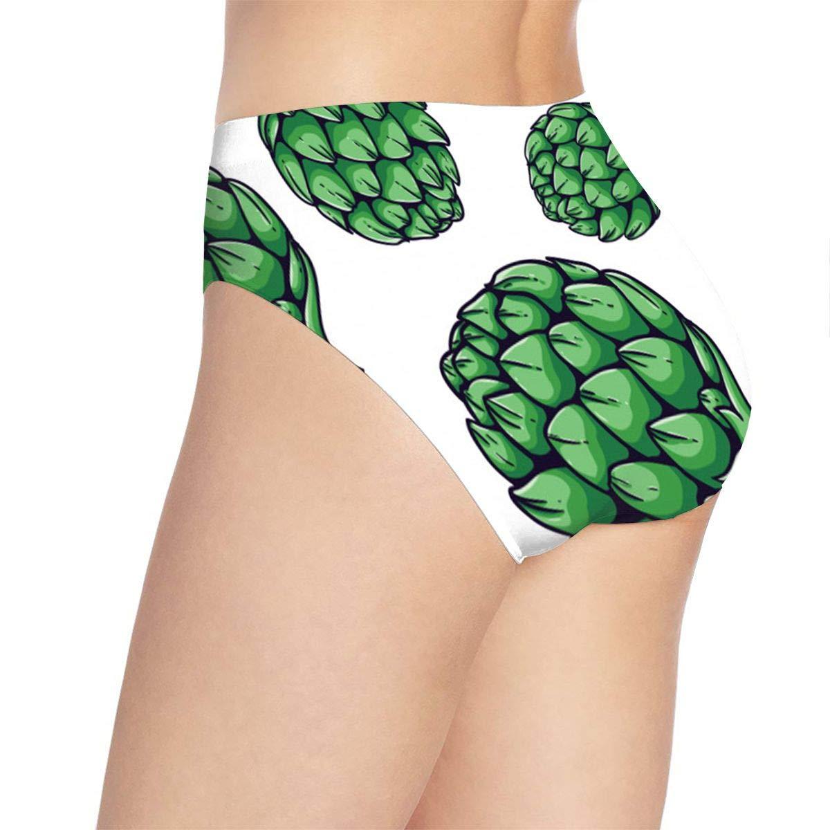Women Fresh Artichoke Organic Vegetable Pattern Underwear Bikini Briefs