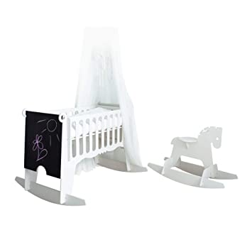 Groovy White 5 In 1 Swinging Crib Combo Rocking Crib And Space Saving Cot In One Set Gmtry Best Dining Table And Chair Ideas Images Gmtryco