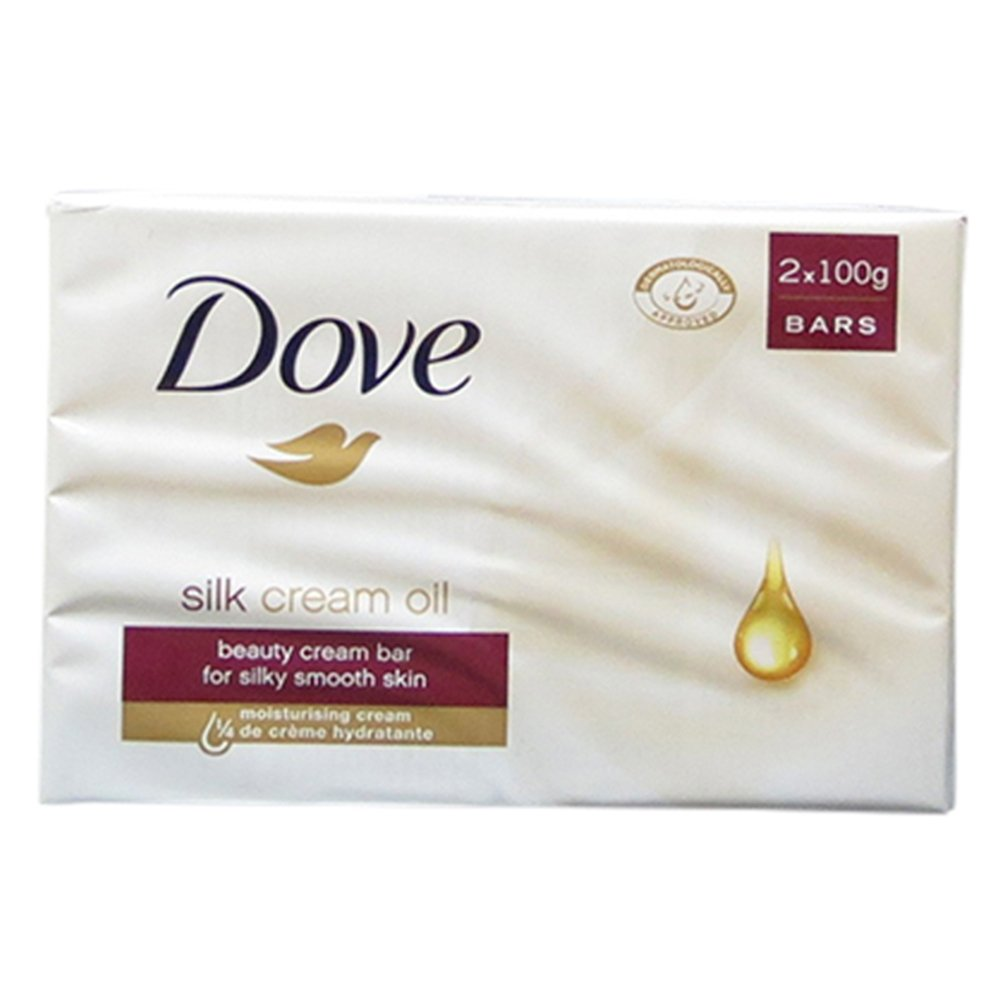 Dove Bar Soap With Silk Cream Oil 2 In 1 Pack (2x100g Approx.) 0561724