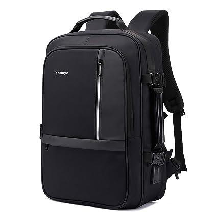 l'ultimo 020c2 12251 Xnuoyo 17.3 Pollici Espandibile Laptop Zaino Antifurto, Impermeabile TSA  Zaino Porta PC Convertibile per Notebook (Nero)