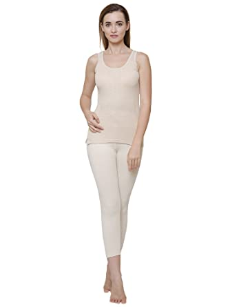 b1c99b75fc5c89 BODYCARE Beige Solid Women Thermal Top  Amazon.in  Clothing   Accessories