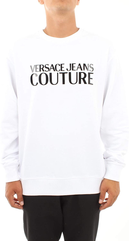 VERSACE JEANS COUTURE Mens Vinyl Chest Logo Sweatshirt