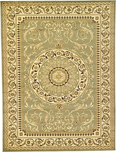 Unique Loom Versailles Collection Traditional Classic Light Green Area Rug (9