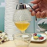 Shop24Hrs 200ML Honeycomb Dispenser Acrylic Honey Pot Gravy Boats Crystal Syrup Dispenser