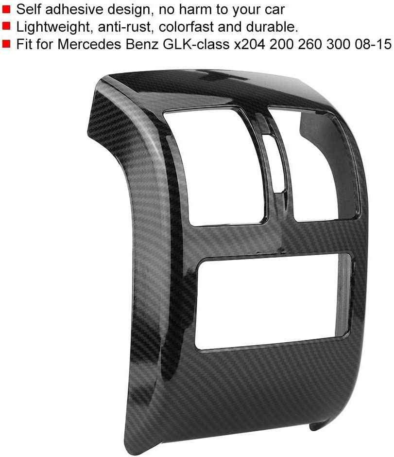 struttura in fibra di carbonio Coperchio delluscita dello sfiato dellaria posteriore adatto per GLK X204 200 08-15 Yctze Cornice del telaio dello sfiato dellaria