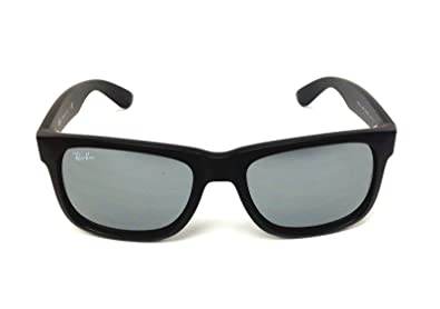 20a8e58f60 Amazon.com  New Ray Ban Justin RB4165 622 6G Rubber Black   Grey ...
