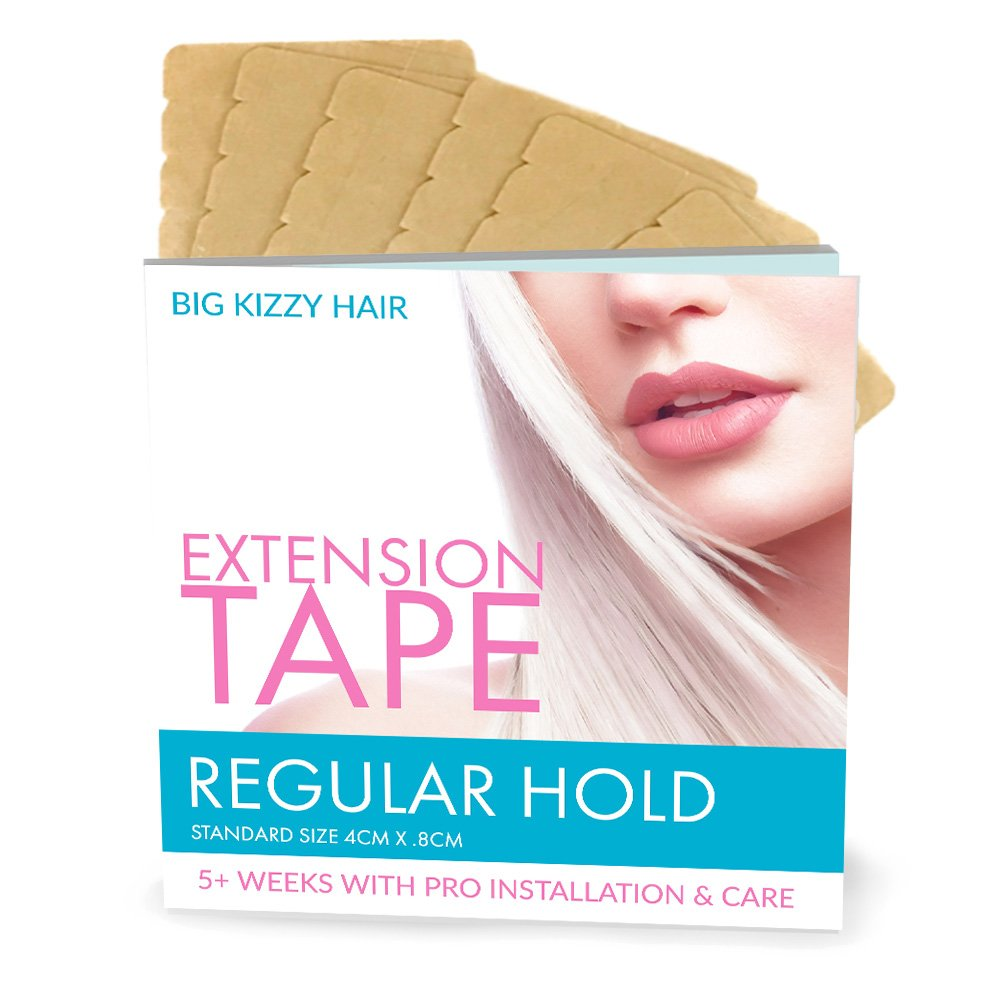 Hair Extensions Tape REGULAR Hold Fits Most Tape in Hair Extensions, 4cm x .8cm Tape for Extensions, Professional Double Sided Extension Tape
