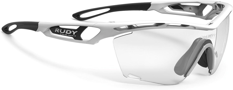 ルディプロジェクト(RUDYPROJECT) サングラス スポーツ ロード バイク トラリクススリム ホワイトフレーム インパクトX2 調光ブラックレンズ SP467369-0001