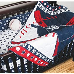 4 Piece Crib Bedding Set MLB Team: Yankees