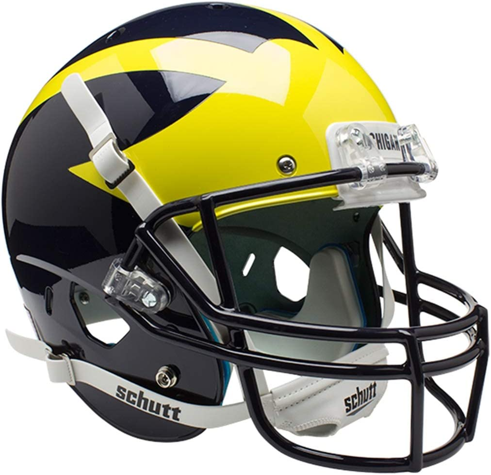 Schutt NCAA Michigan Wolverines Replica XP Football Helmet, Classic : Sports Related Collectible Full Sized Helmets : Sports & Outdoors