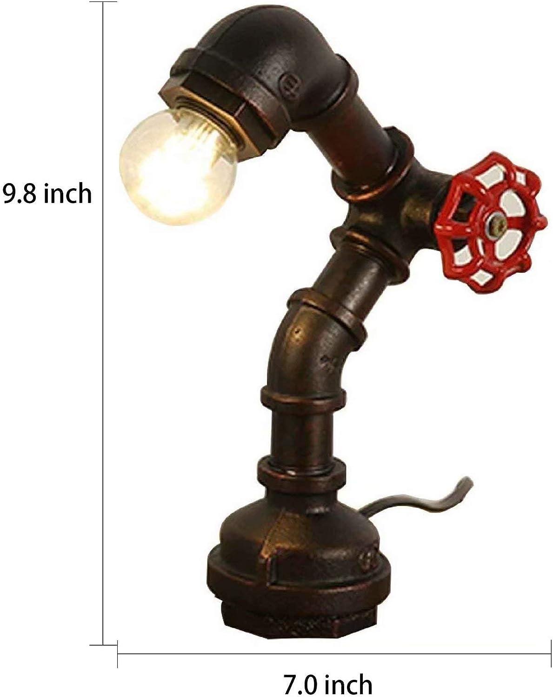 ALIYAYA Lámpara de mesa de tubo de agua industrial vintage, grifo ...