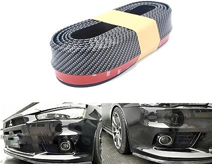 Cilindro de buz/ón - lado Auto Parachoques Protecci/ón  finsink fibra de carbono 2,5/m frontsto/ßstange Protector de pantalla Parachoques de protecci/ón delantera para frontal Negro