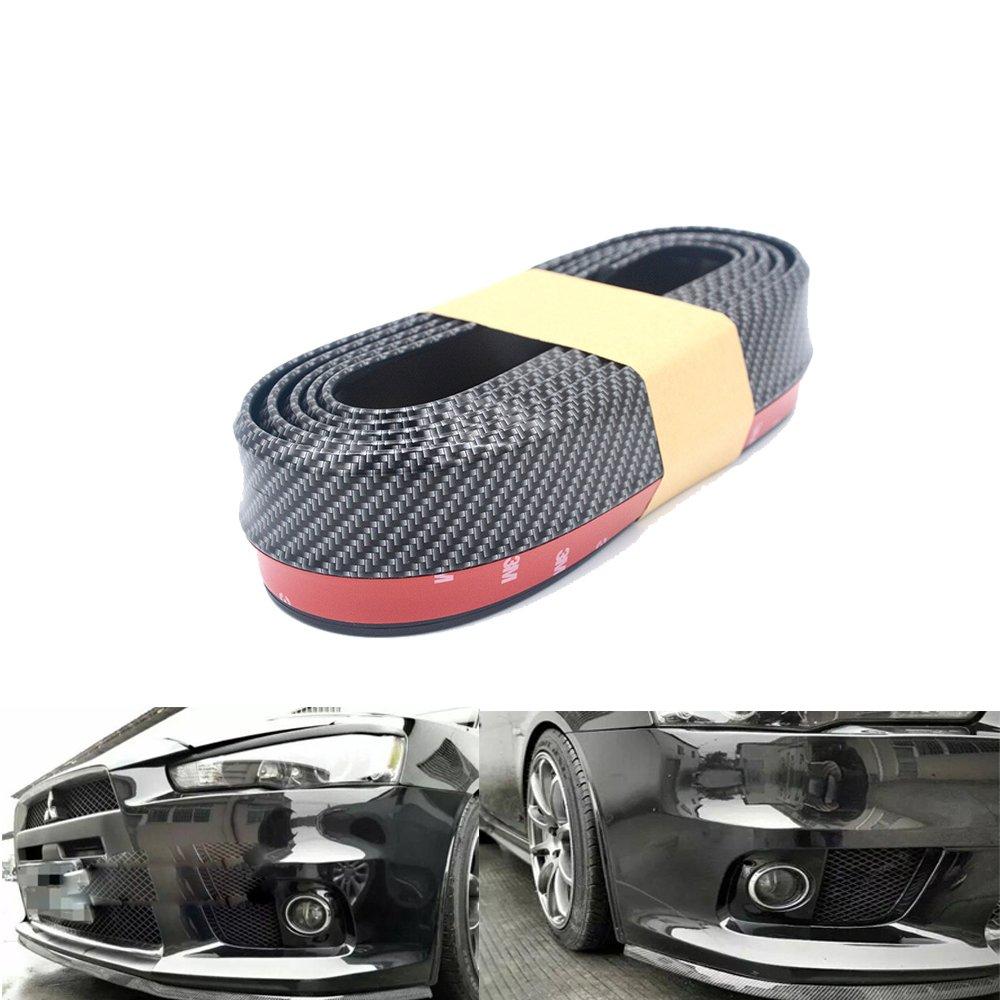 Auto Parachoques Protecció n  finsink fibra de carbono 2,5 m frontstoß stange Protector de pantalla Parachoques de protecció n delantera para frontal, lado, Cilindro de buzó n --- Negro Cilindro de buzón --- Negro