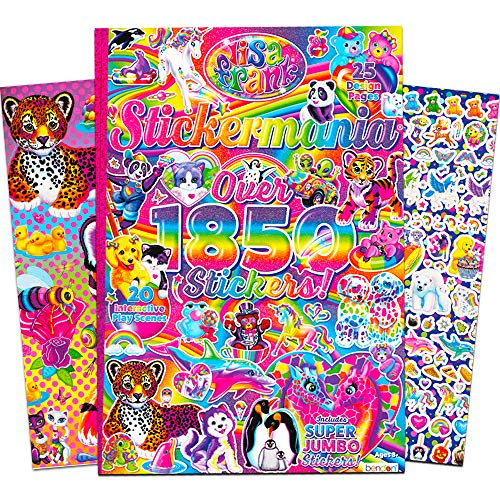 (Lisa Frank Sticker Activity Book -- Sticker Mania with 1,850 Stickers and Sticker Scene Pages (Lisa Frank Party Supplies))