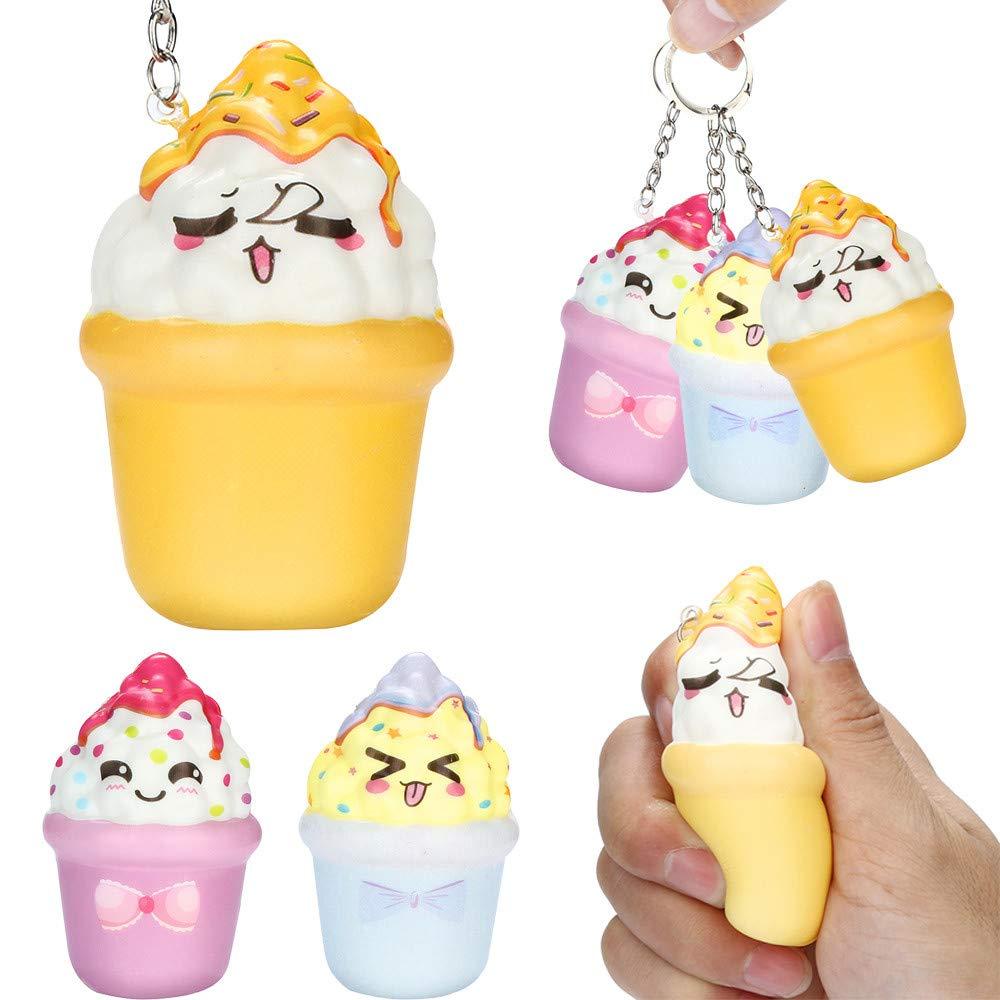 Amazon.com: Matoen Squishies Kawaii Ice Cream Slow Rising ...