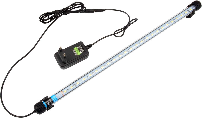 NICREW Luz Blanca LED Sumergible para Acuarios, Barra de luz Subacuática 5W 48cm Lámpara Sumergible Acuario LED, Tubos de Luz Impermeable