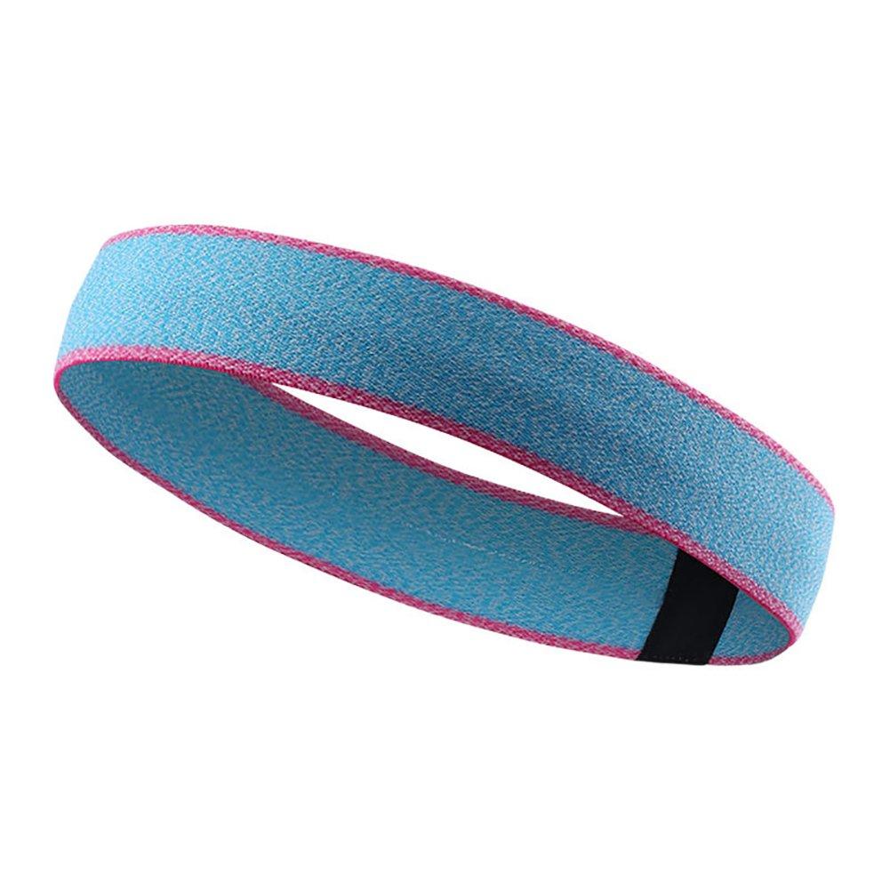 ITODA Women Men Running Sport Headband, Cotton Soft Elastic Moisture Wicking Breathable Sweatband Athletic Sweatband Adjustable Hair Band for Yoga Crossfit Working Outdoor Headwrap