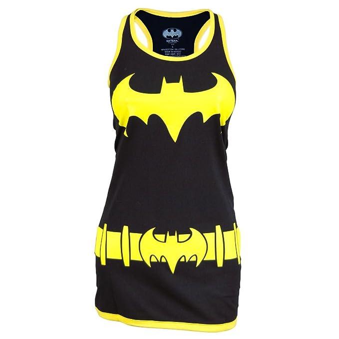 Mujeres Batman DC Traje Chaleco Vestido Negro Y Amarillo ...